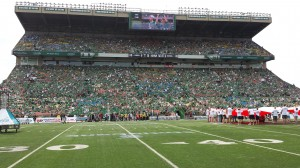 The West side at Mosaic Stadium is all set.
